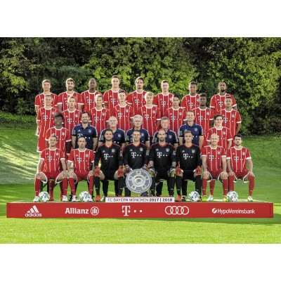 Puzzle  Ravensburger-13250 XXL Teile - FC Bayern '17/18