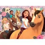 Puzzle  Ravensburger-13252 XXL Teile - DreamWorks - Spirit Riding Free