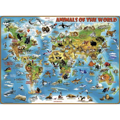 Puzzle  Ravensburger-13257 XXL Teile - Tiere rund um die Welt