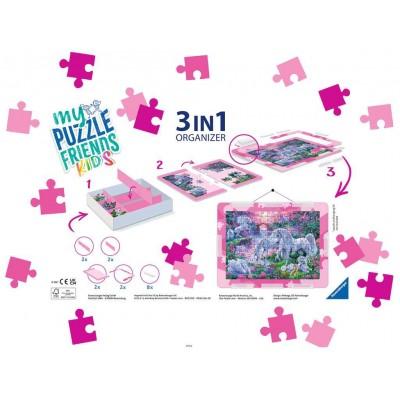 Ravensburger-13275 3 in 1 Organizer  - 100 - 300 XXL Teile - Pink