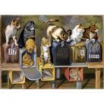 Puzzle  Ravensburger-13562 XXL Teile - Cat's Got Mail
