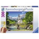 Puzzle  Ravensburger-13645 XXL Teile - Ramsau, Bayern