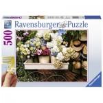Puzzle  Ravensburger-13654 XXL Teile - Blumen und Hüte