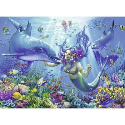 Puzzle  Ravensburger-13678 Leuchtendes Unterwasserparadies
