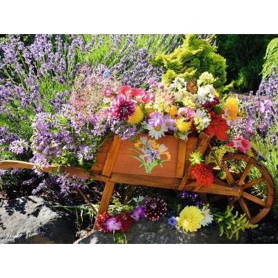 Puzzle  Ravensburger-13685 XXL Teile - Blumenarrangement