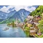 Puzzle  Ravensburger-13687 XXL Teile - Hallstatt in Österreich