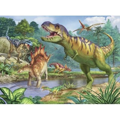 Puzzle  Ravensburger-13695 XXL Teile - Welt der Dinosaurier
