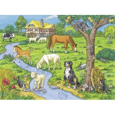 Puzzle  Ravensburger-13696 XXL Teile - Liebste Bauernhoftiere