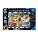 Puzzle  Ravensburger-13703 Color Star Line - Paw Patrol