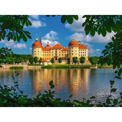 Puzzle Ravensburger-13708 Schloss Moritzburg