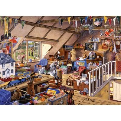Puzzle Ravensburger-13709 Großmutters Dachboden