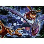 Puzzle  Ravensburger-13710 Color Star Line - XXL Teile - Dragon