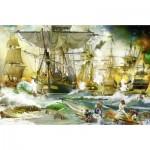 Puzzle  Ravensburger-13969 Schlacht auf hoher See