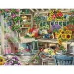 Puzzle  Ravensburger-13996 Idyllischer Garten