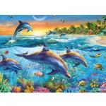 Puzzle  Ravensburger-14210 Bucht der Delfine