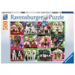Puzzle  Ravensburger-14659 Welpenfreunde