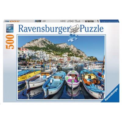 Puzzle  Ravensburger-14660 Farbenfroher Hafen