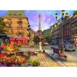 Puzzle  Ravensburger-14683 Dominic Davison: Spaziergang durch Paris