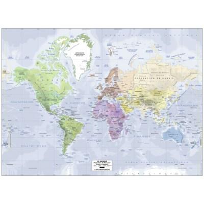 Puzzle  Ravensburger-14760 Weltkarte (auf Französisch)