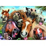 Puzzle  Ravensburger-14763 Selfies - Horsing Around