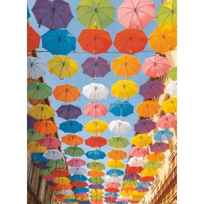 Puzzle Ravensburger-14765 Farbenfrohe Schirme