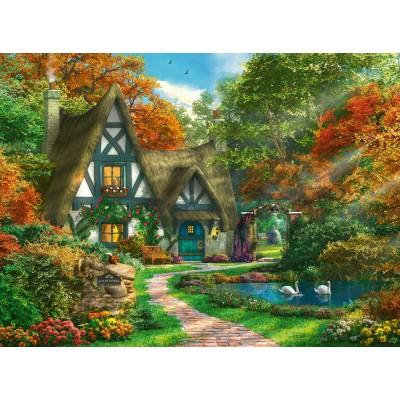 Puzzle  Ravensburger-14792 Cottage im Herbst