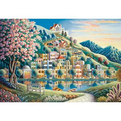Puzzle  Ravensburger-14798 Blütenpark