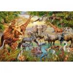 Puzzle  Ravensburger-14809 Tiere am Wasserloch