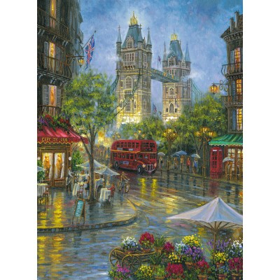 Puzzle  Ravensburger-14812 Malerisches London