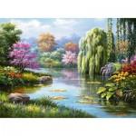 Puzzle  Ravensburger-14827 Romantik am Teich
