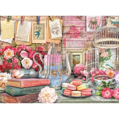 Puzzle Ravensburger-14838 Vintage Tea Party