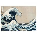Puzzle  Ravensburger-14845 Hokusai - Die große Welle vor Kanagawa