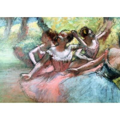 Puzzle  Ravensburger-14847 Degas Edgar - Ballerinas auf der Bühne
