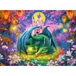 Ravensburger-14931 Puzzle 500 Teile fluoreszierend - Im Drachenwald
