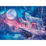 Puzzle  Ravensburger-14952 Star Line - Wolf im Nordlicht