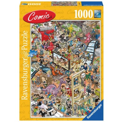 Ravensburger-14985 Comic Puzzle - Hollywood