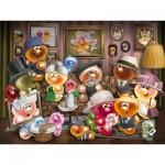 Puzzle  Ravensburger-15014 Gelini Familienporträt
