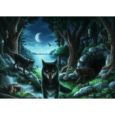Ravensburger-15028 Exit Puzzle - Wolfsgeschichten