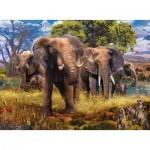 Puzzle  Ravensburger-15040 Elefantenfamilie