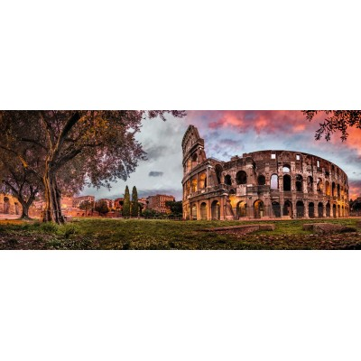 Puzzle  Ravensburger-15077 Sunset Colosseum
