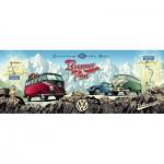 Puzzle  Ravensburger-15102 Mit dem VW Bulli über den Brenner