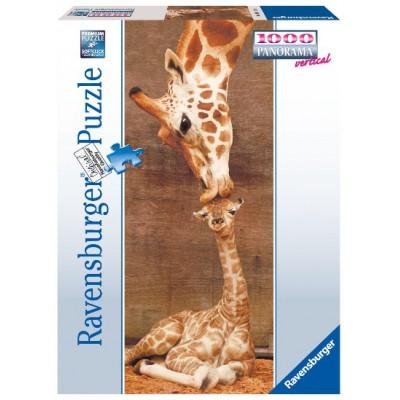 Puzzle Ravensburger-15115 Giraffen: Der erste Kuss