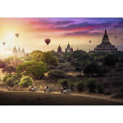 Puzzle Ravensburger-15153 Heißluftballons über Myanmar,