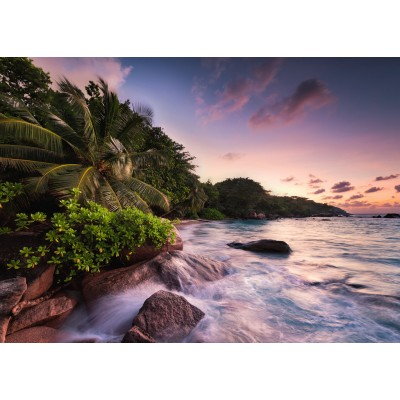 Puzzle  Ravensburger-15156 Praslin, Insel auf den Seychellen