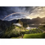 Puzzle  Ravensburger-15158 Regenbogen auf Machu Picchu, Peru