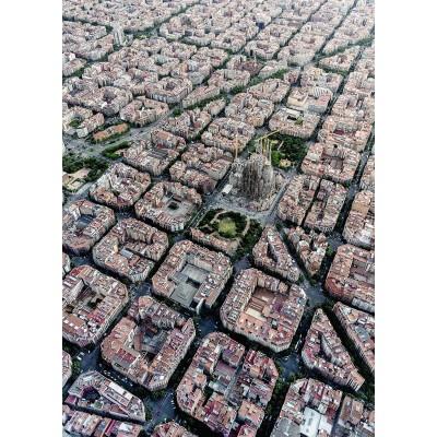 Puzzle Ravensburger-15187 Barcelona von Oben