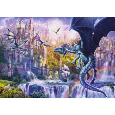 Puzzle  Ravensburger-15252 Das Schloss der Drachen