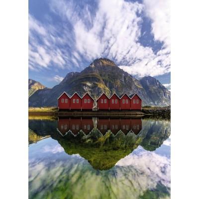 Puzzle Ravensburger-15256 Sunndalsora, Norwegen