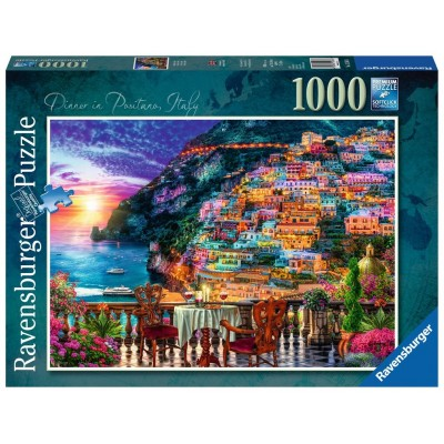 Puzzle  Ravensburger-15263 Abendessen in Positano, Italien