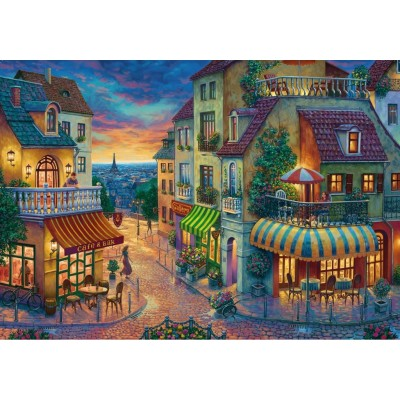 Puzzle  Ravensburger-15265 Abend in Paris